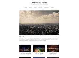 Deliciously Simple WordPress blog theme
