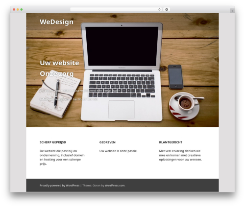 Edin free WordPress theme - we-design.eu