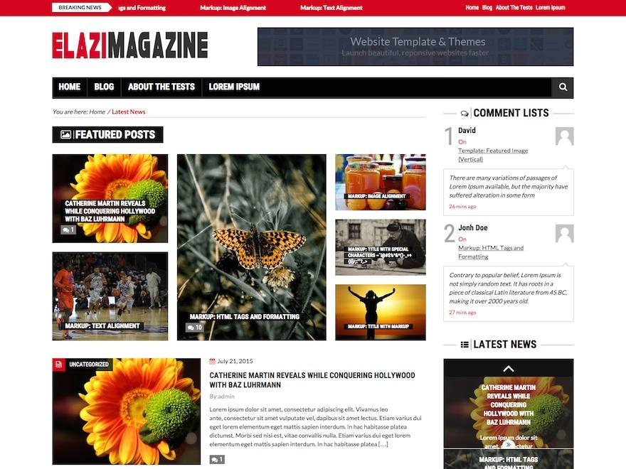 Elazi Lite fashion WordPress theme