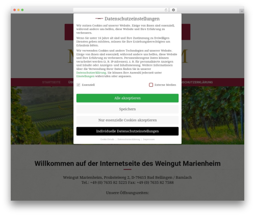 Free WordPress GDPR Cookie Consent plugin - weingut-marienheim.com