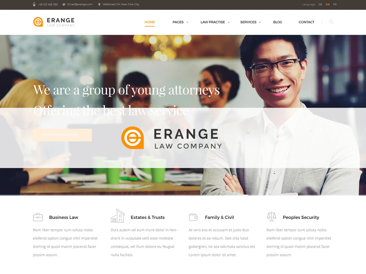 Erange business WordPress theme