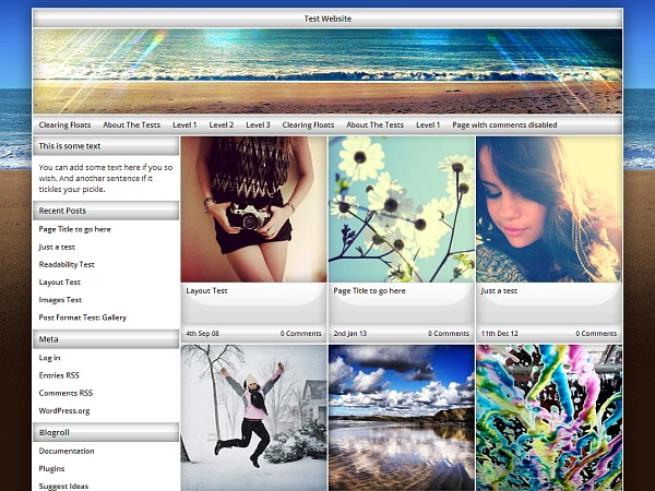 Exact WordPress photo theme