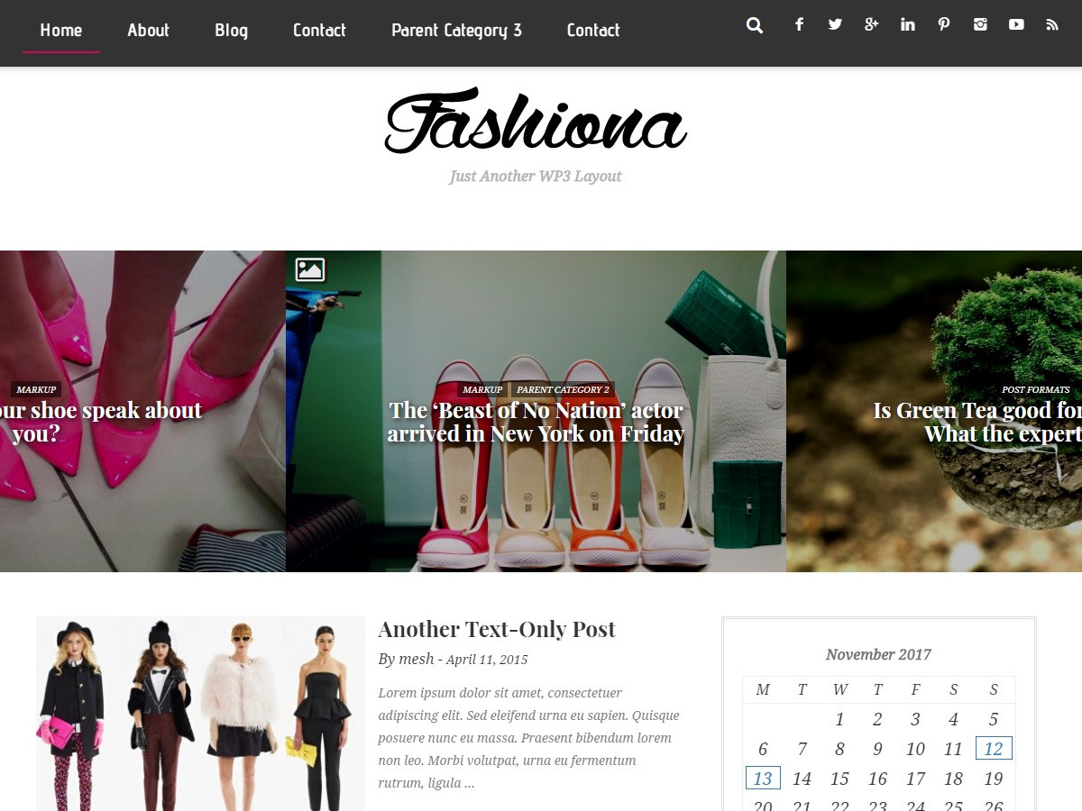 Fashiona free WordPress theme