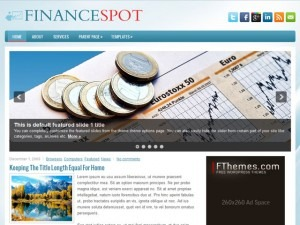 FinanceSpot WordPress blog template