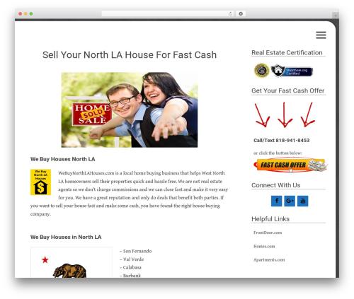 Flask WordPress template - webuynorthlahouses.com