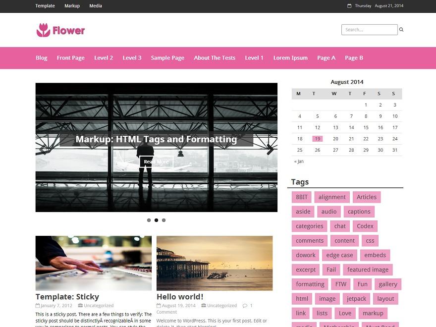 Flower WordPress magazine theme