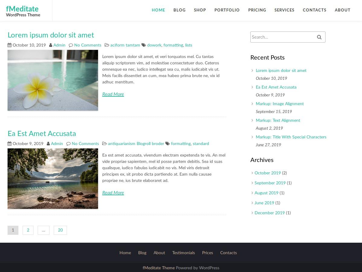 fMeditate WordPress theme free download