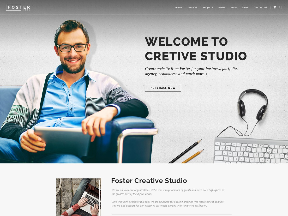 foster theme WordPress portfolio
