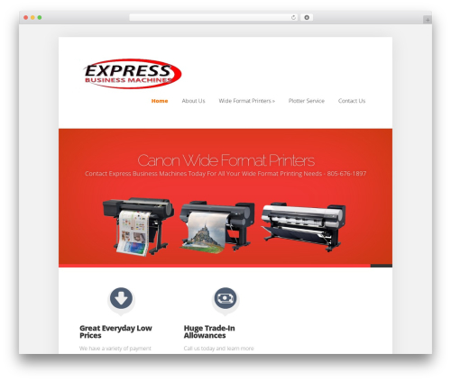 Foxy business WordPress theme - wideformat-solutions.com