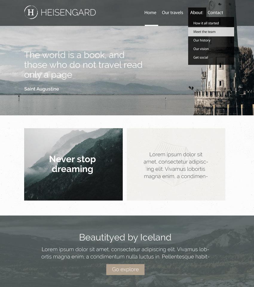 Heisengard WordPress photo theme