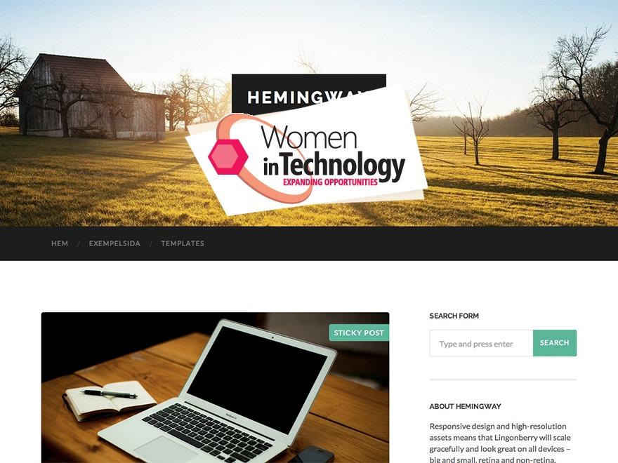 Hemingway WordPress blog theme
