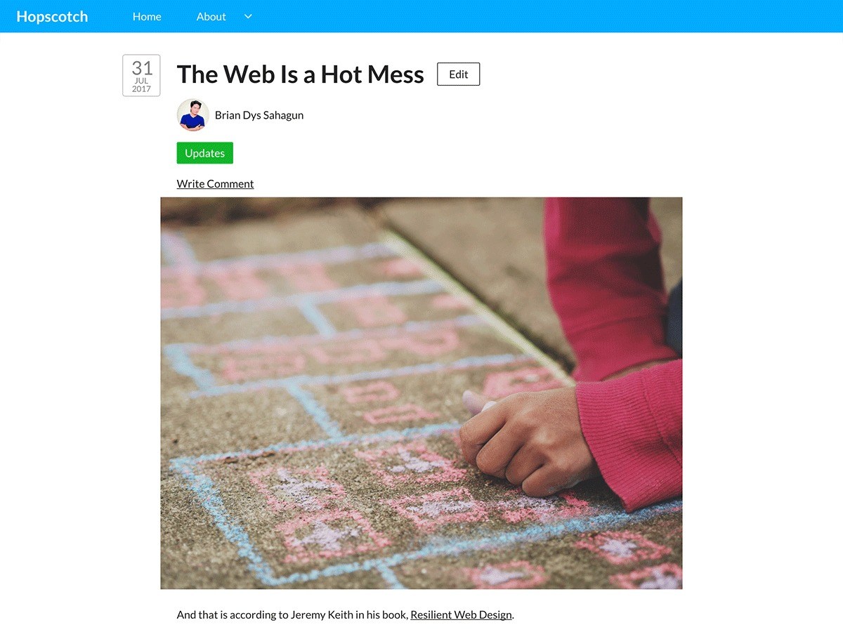 HopScotch WordPress template free download