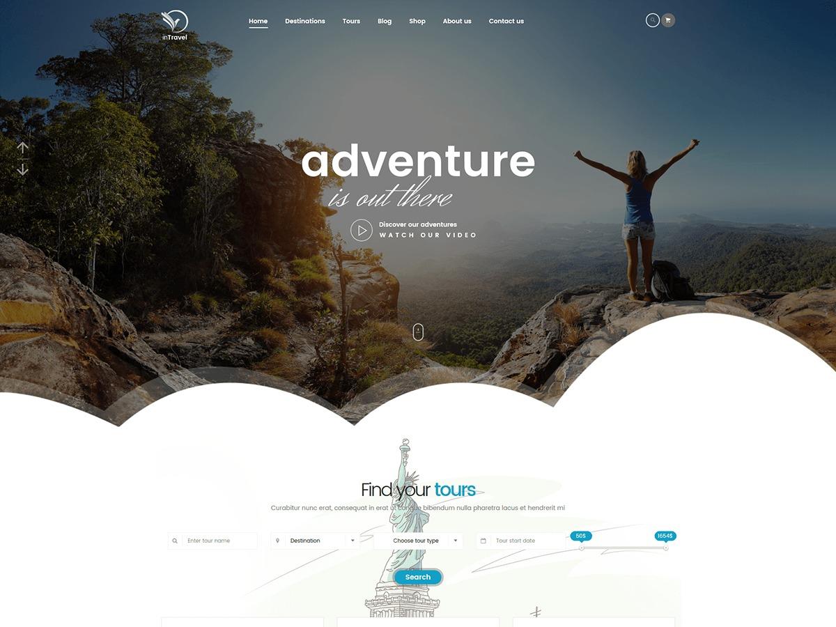 InTravel WordPress travel theme