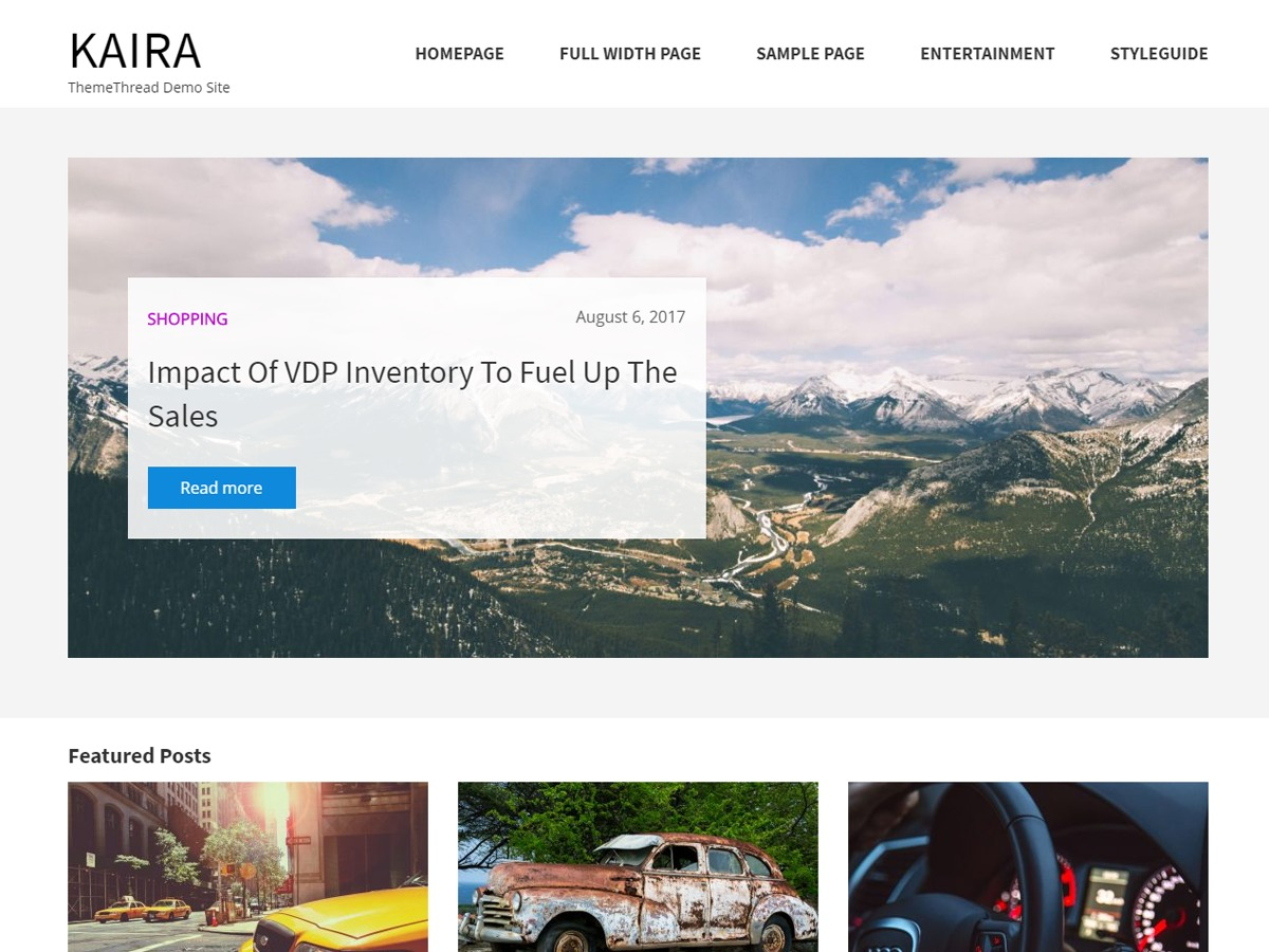 Kaira theme WordPress free