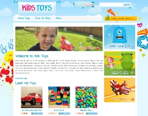 Kids Toys WordPress page template