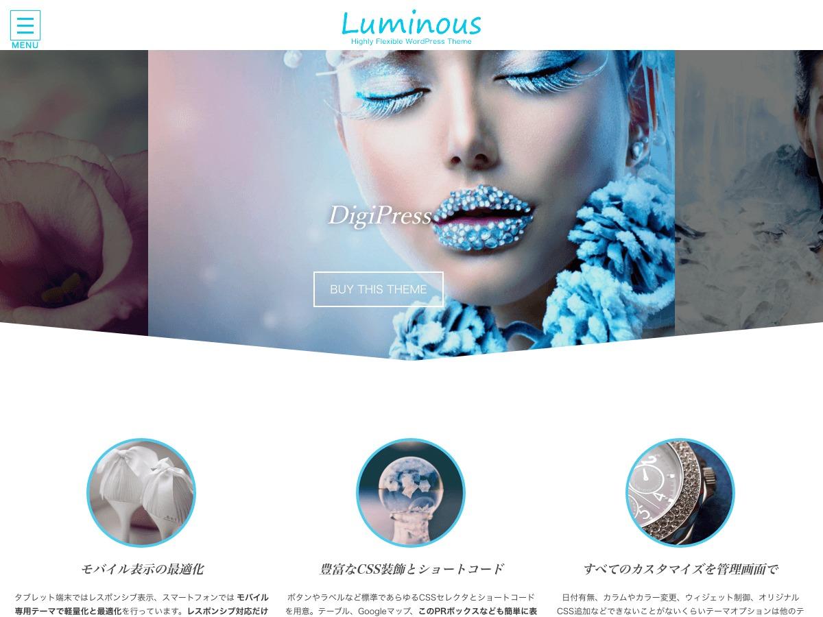 Luminous - Business Edition by DigiPress company WordPress theme
