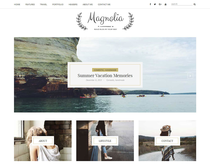 Magnolia WordPress blog template