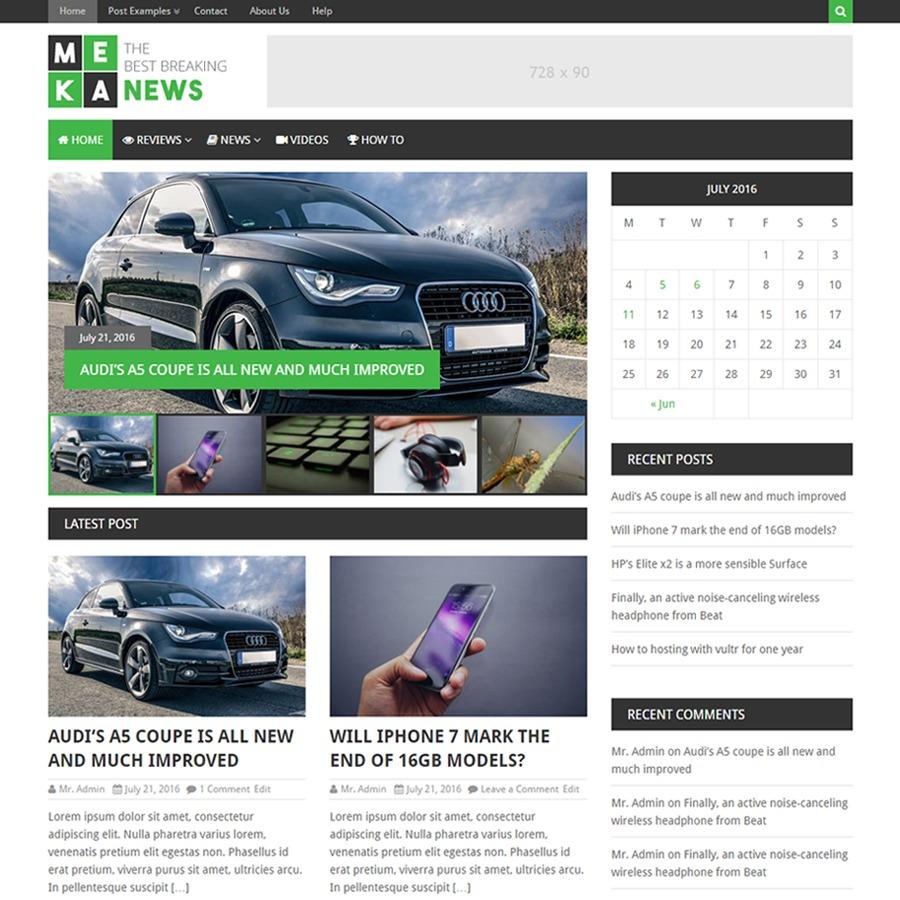 MekaNews Lite best free WordPress theme