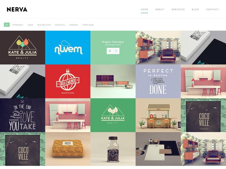 Nerva top WordPress theme