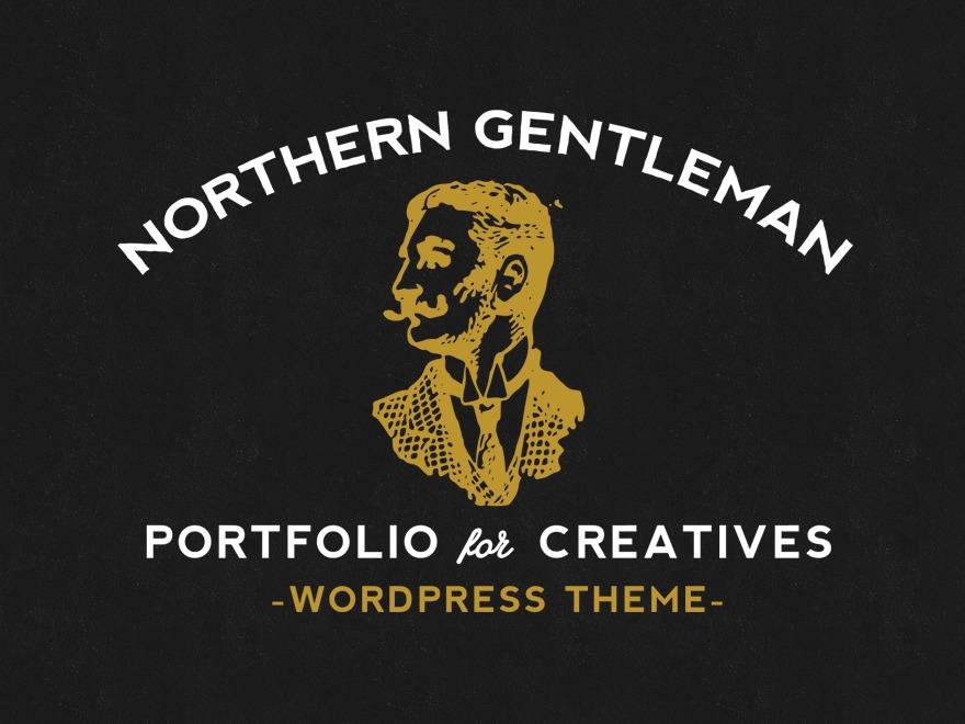 Northern Gentleman WordPress portfolio template