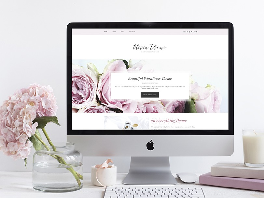 Olivia WordPress blog template