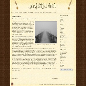 Parchment Draft best WordPress template
