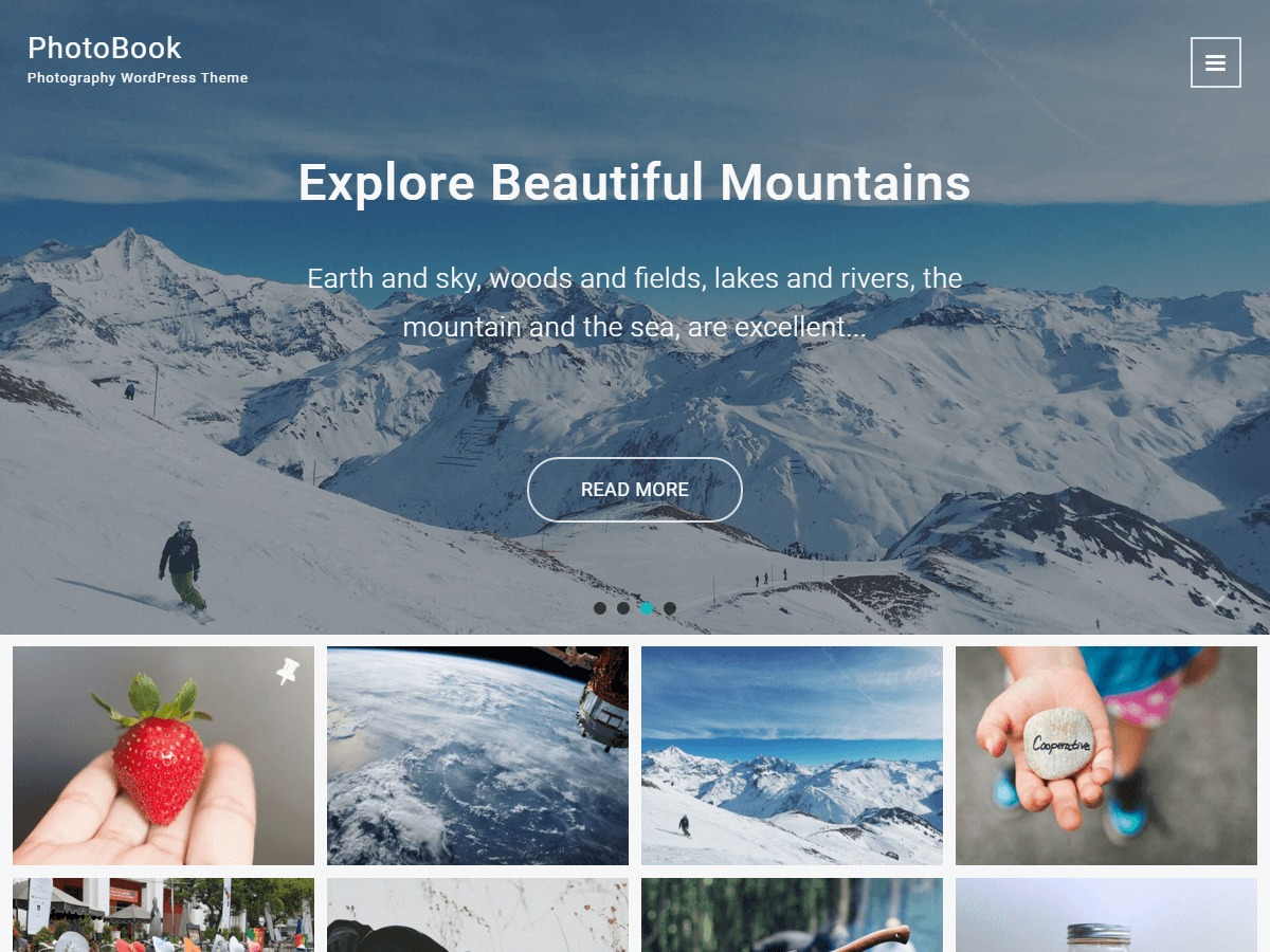 PhotoBook WordPress theme image