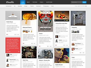 Pinable WordPress website template