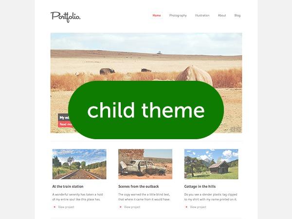 Portfolio Child personal blog WordPress theme