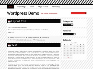 Red Nylon WordPress blog theme
