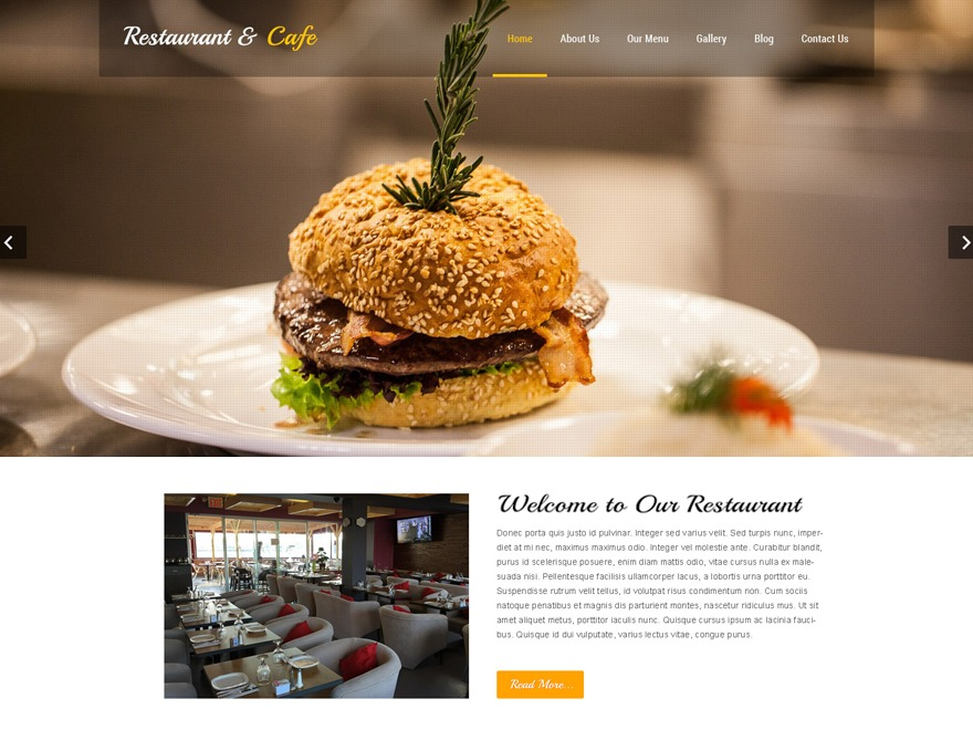 Restaurant Lite WordPress gallery theme