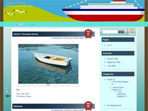 Sea Cruise best WordPress template