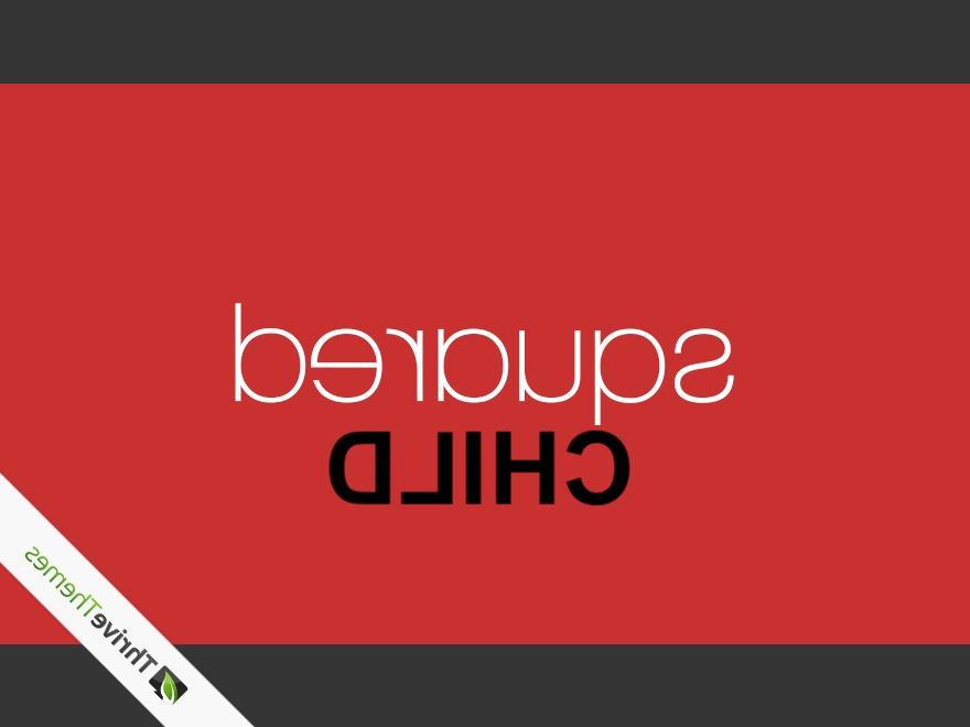 Squared Child WordPress landing page theme