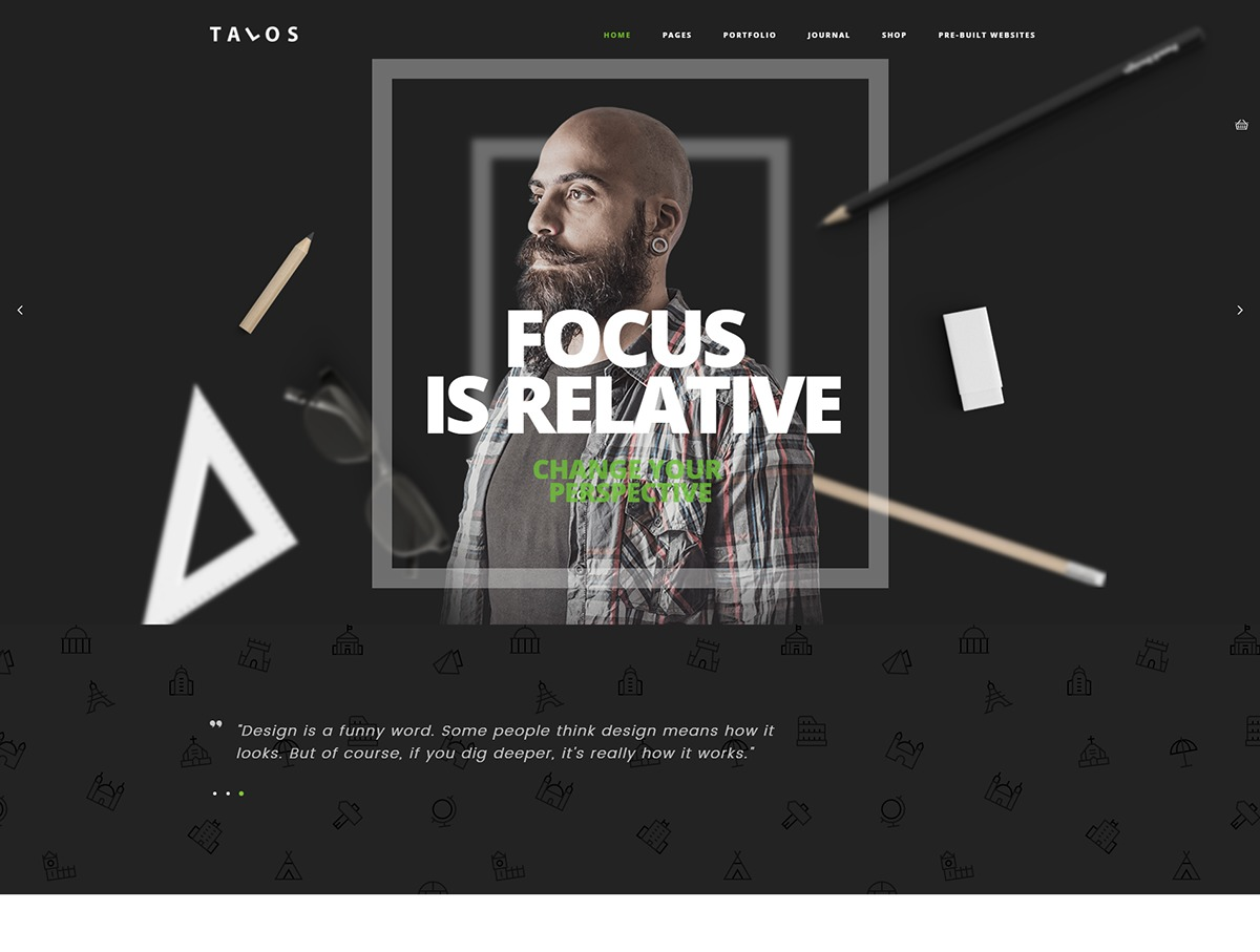 Talos WordPress page template