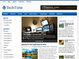 TechTime WordPress blog theme