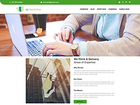The WP Business template WordPress free