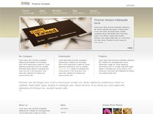 Theme WordPress Blitz Cream