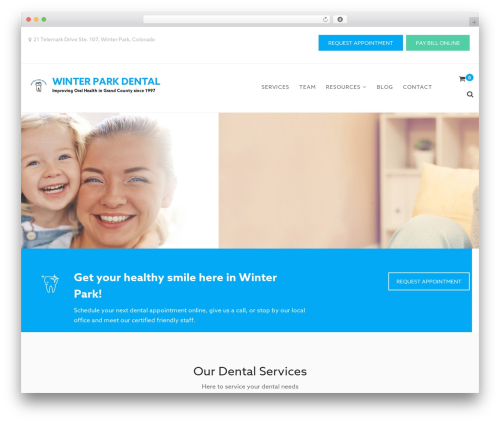 Theme WordPress Dental Care - winterparkdentalcolorado.com