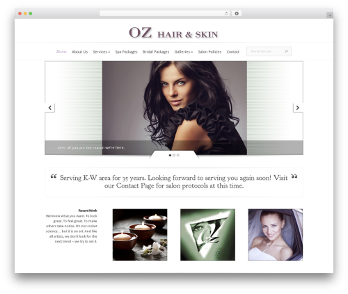 Theme WordPress Evolution - wordpress.ozhairandskin.com