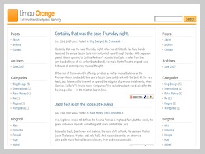Theme WordPress Limau Orange