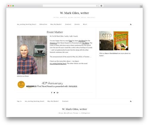 Theme WordPress Olsen Light - writingmarkgiles.com