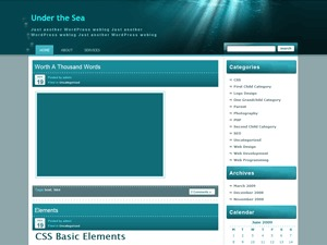 Theme WordPress Under the Sea