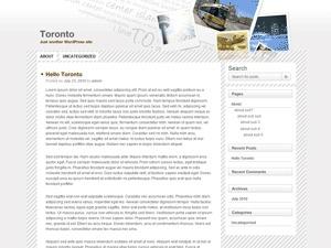 Toronto wallpapers WordPress theme
