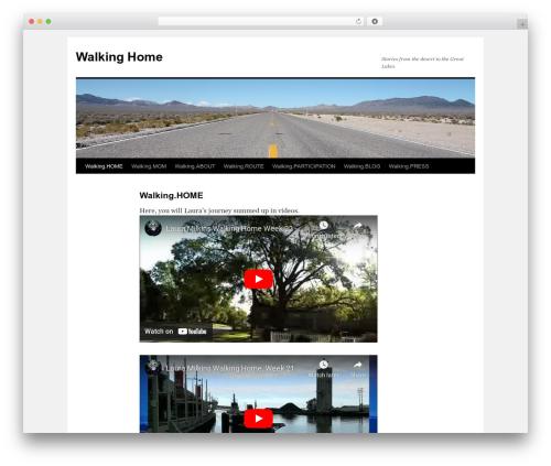 Twenty Ten free WP theme - walkinghomestories.com