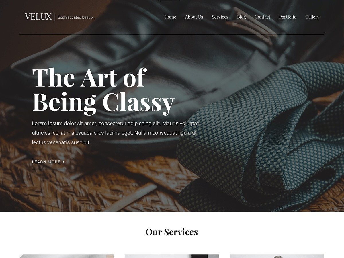 Velux WordPress page template