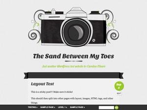 Vintage Camera WordPress blog template