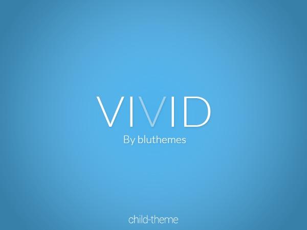 Vivid WordPress page template