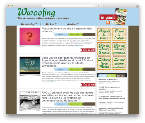 Vulcan WordPress theme - wwoofguide.com