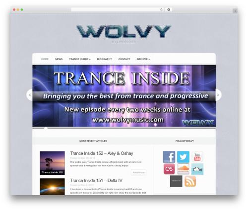 WordPress template Aggregate - wolvymusic.com