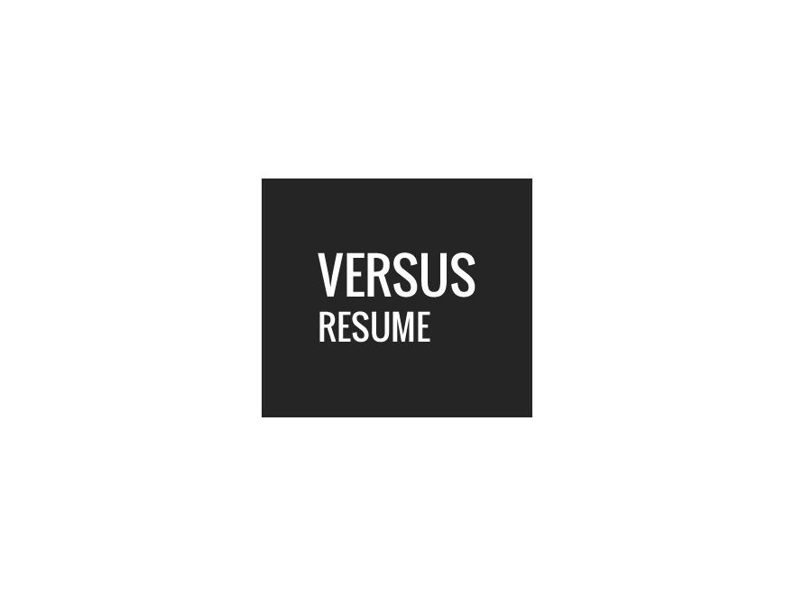 WordPress template Versus Resume WP